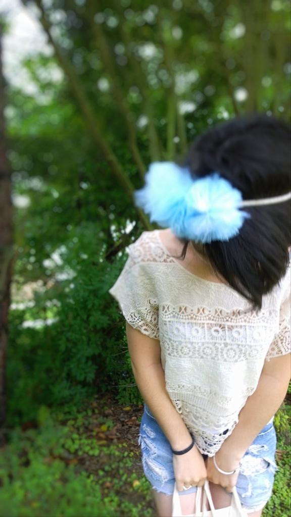 Crochet et headband flou