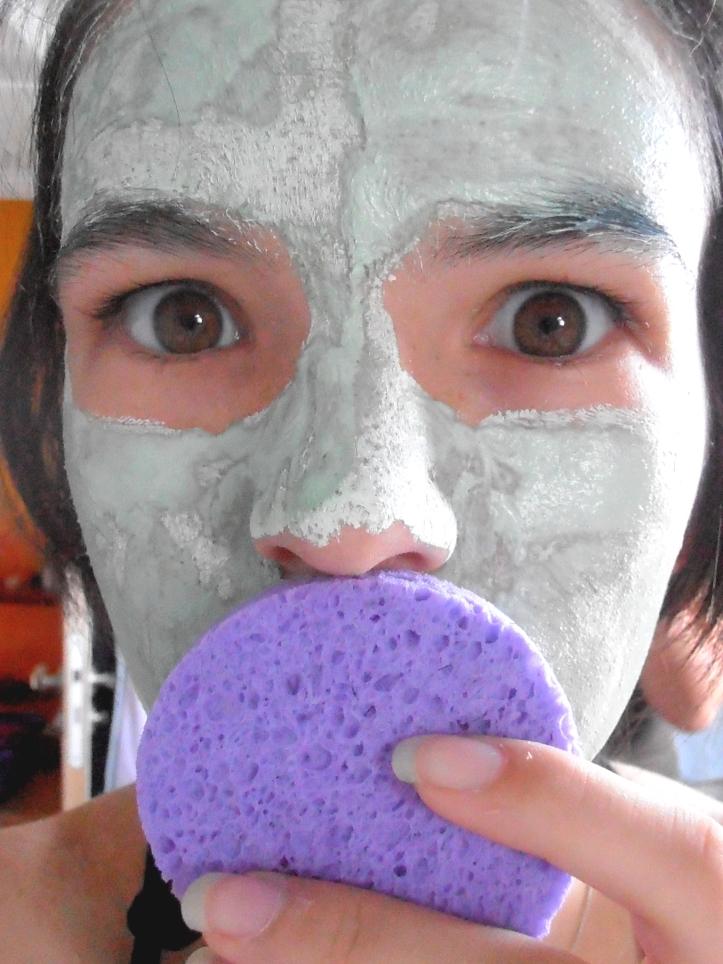 Masque yves rocher enlever avec éponge