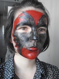 Etape 3 maquillage halloween ajouter le rouge