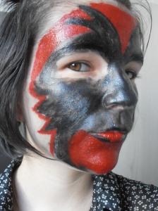 Etape 3 maquillage halloween ajouter le rouge profil