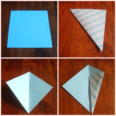 DIY enveloppe origami étape 1