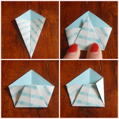 DIY enveloppe origami étape 2