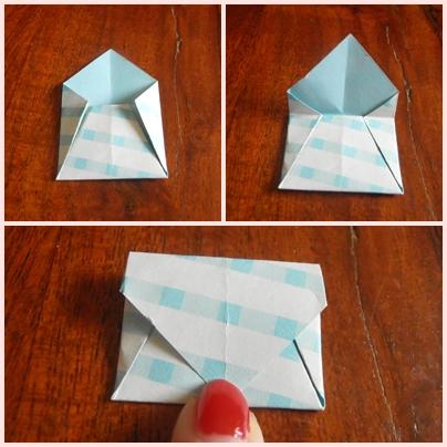 DIY enveloppe origami étape 3