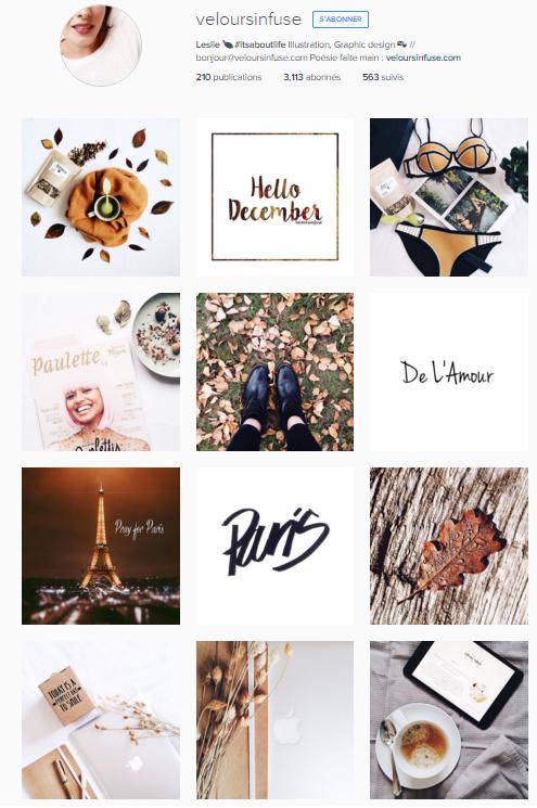 Instagram Velours infuse - IG favoris novembre 2015
